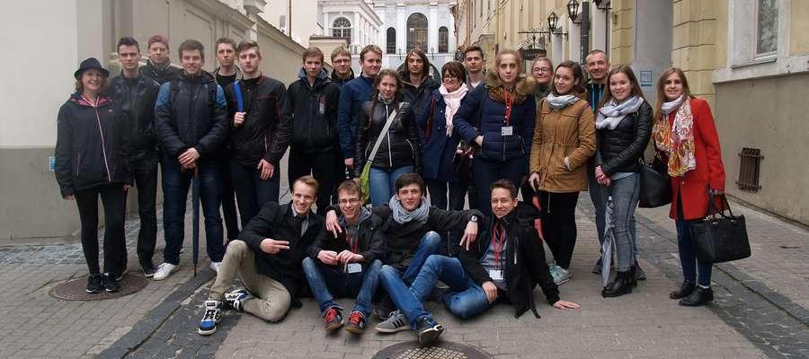 Zwiedzanie Wilna przez uczniów ZS Pasłęk