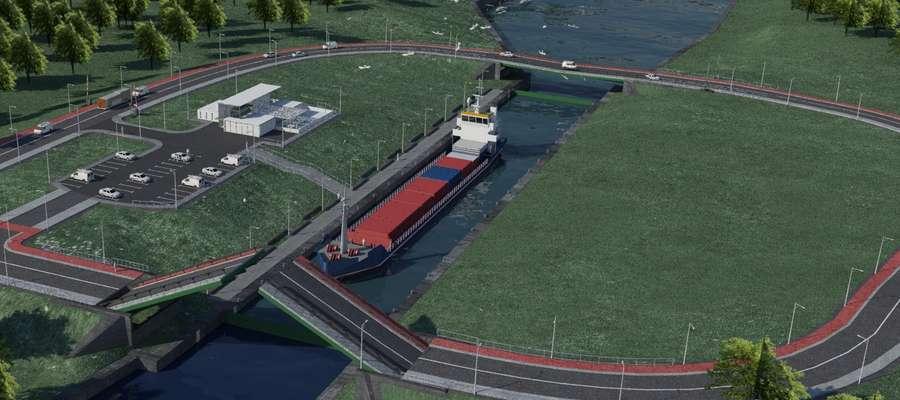 Projekt kanału przez MierzejęWiślaną