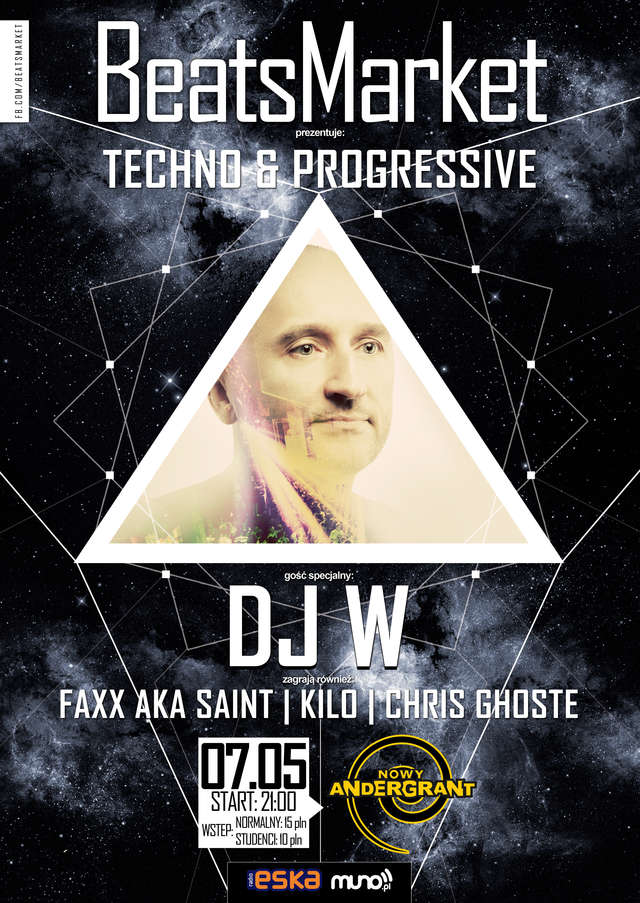 Uderzenie techno i progressive na BeatsMarket w Olsztynie. Zagra DJ W - full image