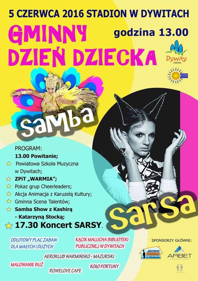 Samba i koncert Sarsy z okazji Dnia Dziecka w Dywitach - full image