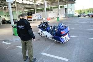 Odzyskali na granicy motocykl marki Honda