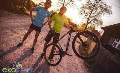 Bieg i wyścig rowerowy w jednym, czyli ekoSTART
