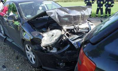 Zderzyło się aż pięć samochodów [zdjęcia, film]