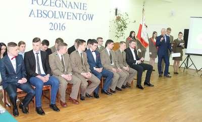 Zakończenie klas czwartych w Zespole Szkół Zawodowych w Iłowie