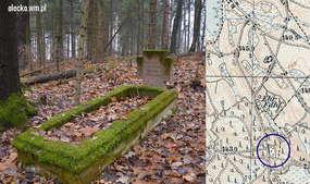 Przy drodze z Gąsek do Zajd na drugim cmentarzu ewangelickim  (1500 m od Gąsek) znajduje się samotna mogiła mieszkańca zabitego przez Rosjan