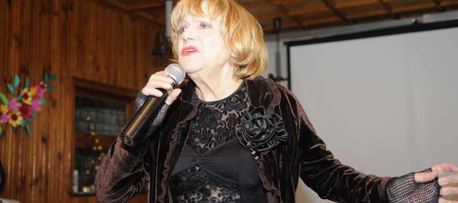 Podczas spotkania w Klubie Krystyna Sienkiewicz tryskała energią