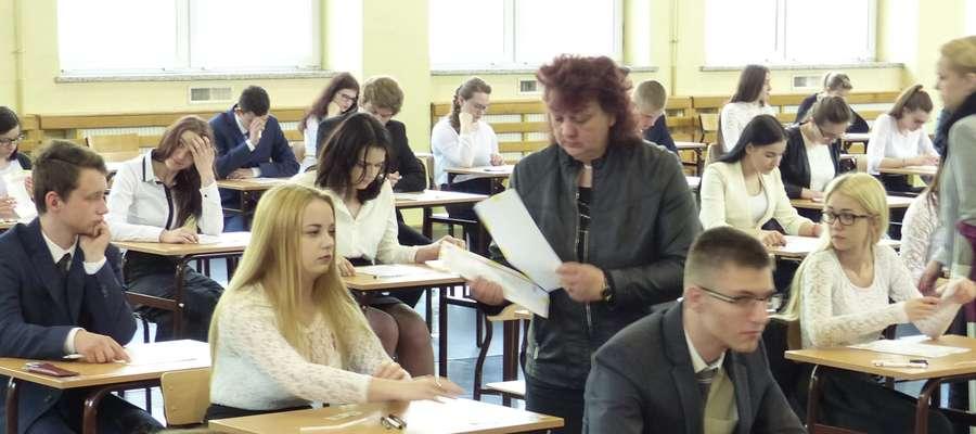Kilka minut przed rozpoczęciem egzaminu