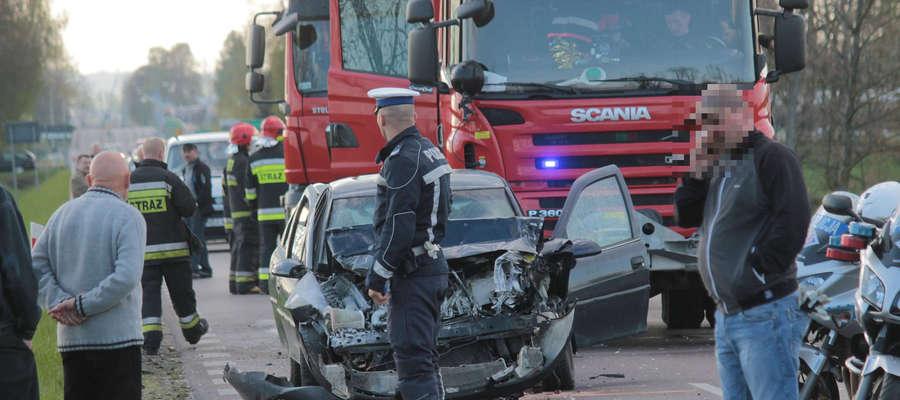 2 maja pijany kierowca wjechał w tył tira