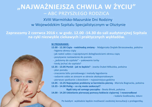 Warsztaty dla przyszłych rodziców w Olsztynie - full image