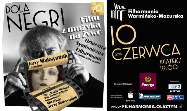 Pola Negri jako pracownica fabryki papierosów. Film z muzyką na żywo - full image