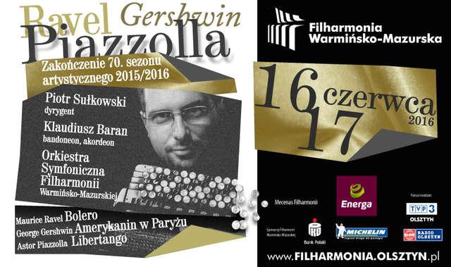 Ravel, Gershwin i Piazzolla. Dwa koncerty na zakończenie 70. sezonu filharmonii - full image