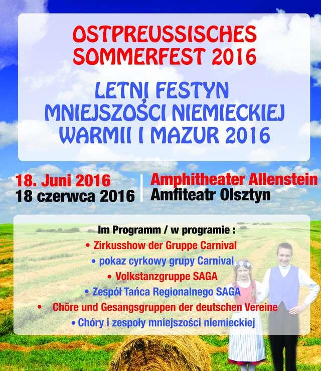 Letni Festyn Mniejszości Niemieckiej Warmii i Mazur - full image