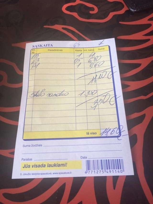 Rachunek za tę drogocenną wodę - 3,5 Euro - full image