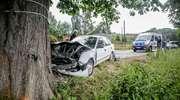 Wypadek w Kadynach. 76-latka zjechała na lewo i uderzyła w drzewo [zdjęcia]