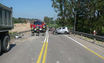 Wypadek na obwodnicy Ostródy. Dwie osoby trafiły do szpitala