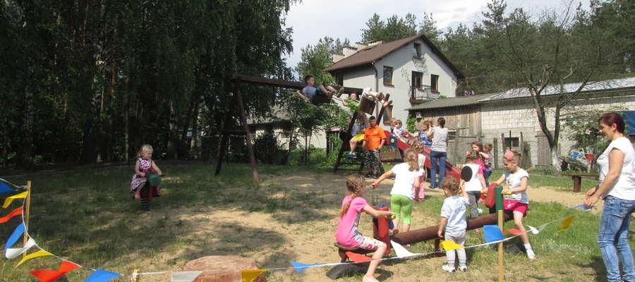 Zabawa na placu zabaw