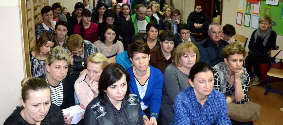 W Miączynie rodzice protestowali w styczniu b.r.