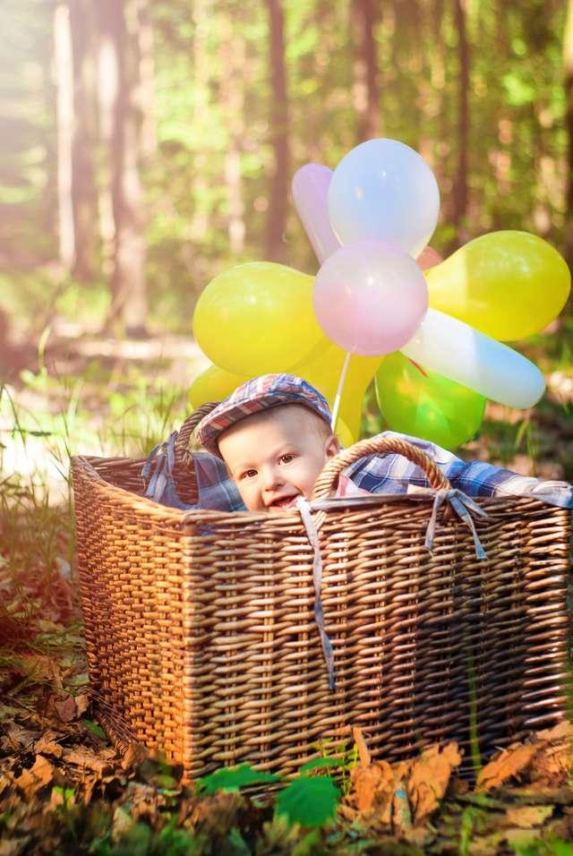 Dziecko na zdrowej dyni wychowane - full image