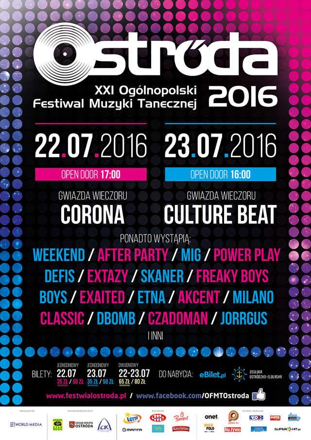 Gwiazdy disco polo zagrają w Ostródzie. Na scenie: Corona, Culture Beat, Czadoman, Weekend i Akcent!  - full image