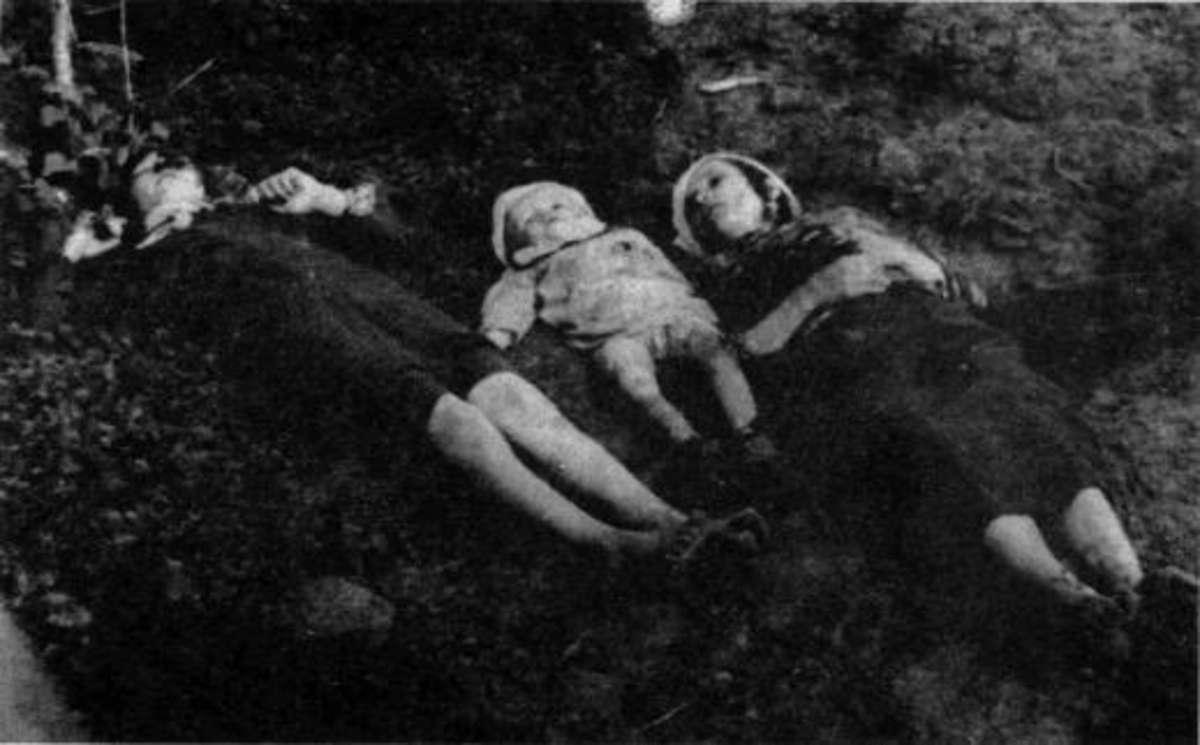 6 czerwca 1945 roku oddział Narodowych Sił Zbrojnych zamordował 196 mieszkańców (Ukraińców) wsi Wierzchowiny (województwo lubelskie)  - full image