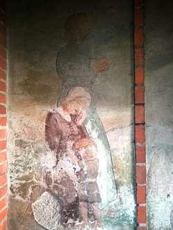 Kwiecewo: malowidło ku czi poległych i stary cmentarz