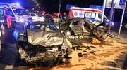 Lexus zderzył się z taksówką. Jedna osoba w szpitalu