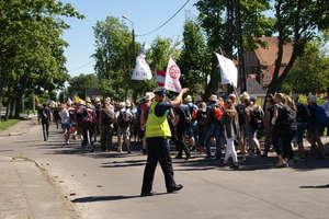 Policjanci czuwali nad bezpieczeństwem pielgrzymów