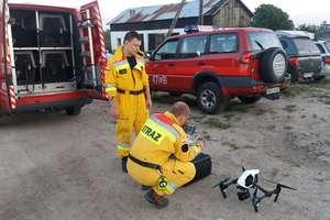Dron i specjalnie szkolone psy pomogły odnaleźć zaginioną kobietę