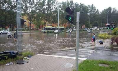 Deszczowy piątek w Olsztynie