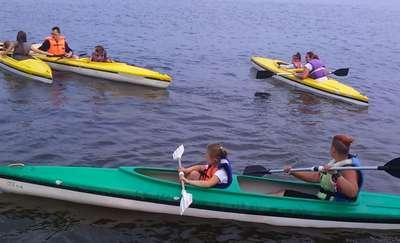 Dzieci na obozie  żeglarskim
