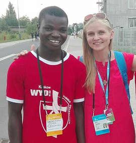 Wzruszające i radosne spotkanie Agaty Stankiewicz z Johnatanem z Zambii.