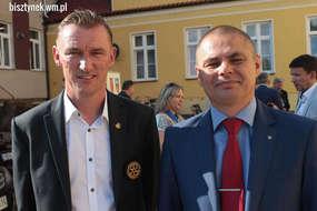 Po lewej: Jan Korzeniewski - ustępujący prezydent RC Bartoszyce - Lidzbark Warmiński. Obok - Arkadiusz Gołombiewski - nowy prezydent RC.