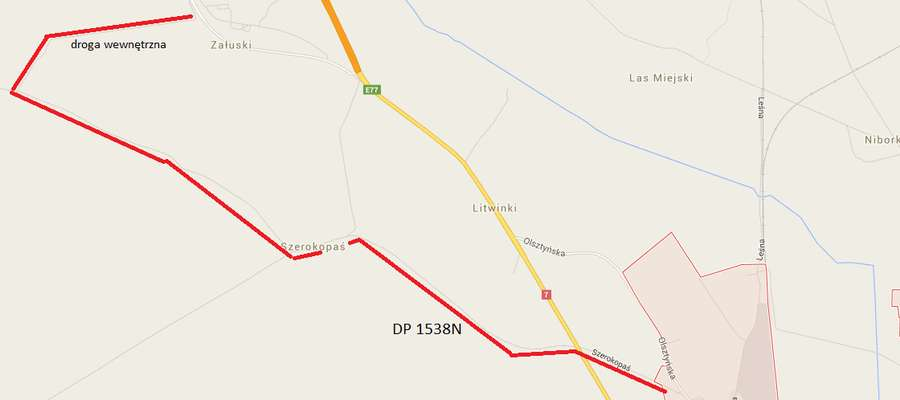 Kliknij w obrazek, by zobaczyć pełną mapę objazdu