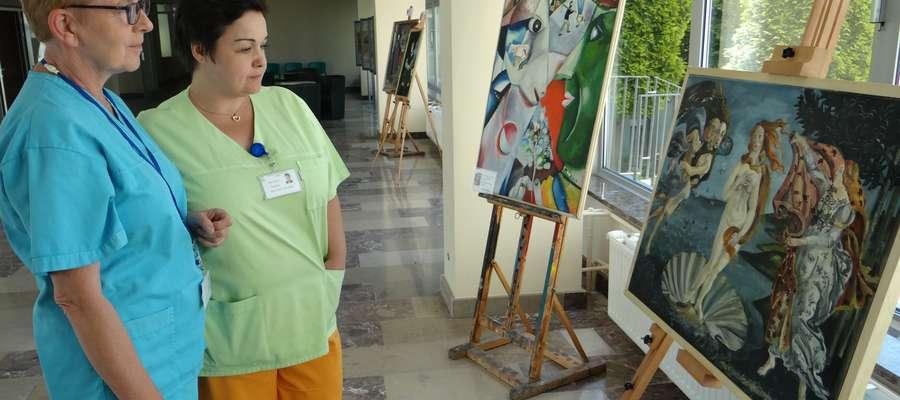 Wystawa malarstwa w szpitalu wojewódzkim