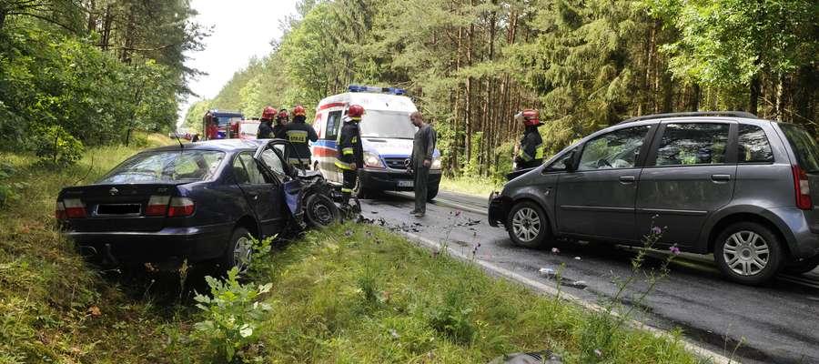 Wypadek wyglądał tragicznie, na szczęście nikomu nic się nie stało