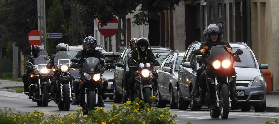 Motocykliści w Biskupcu Pomorskim