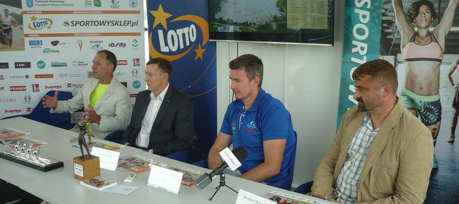 Uczestnicy wtorkowej konferencji prasowej (od lewej): Janusz Milewski, Jerzy Litwiński, Adam Seroczyński, Jeremiusz Dutkiewicz)