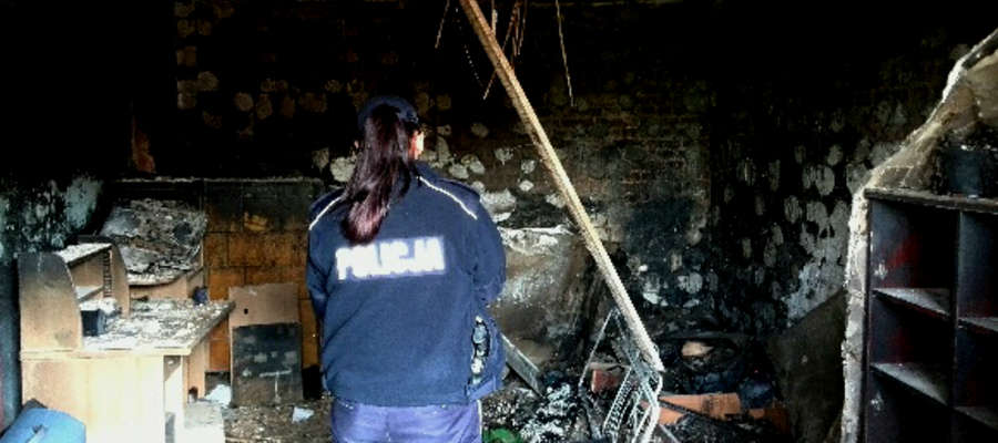 Tak wygląda wnętrze mieszkania, w którym doszło wczoraj do pożaru