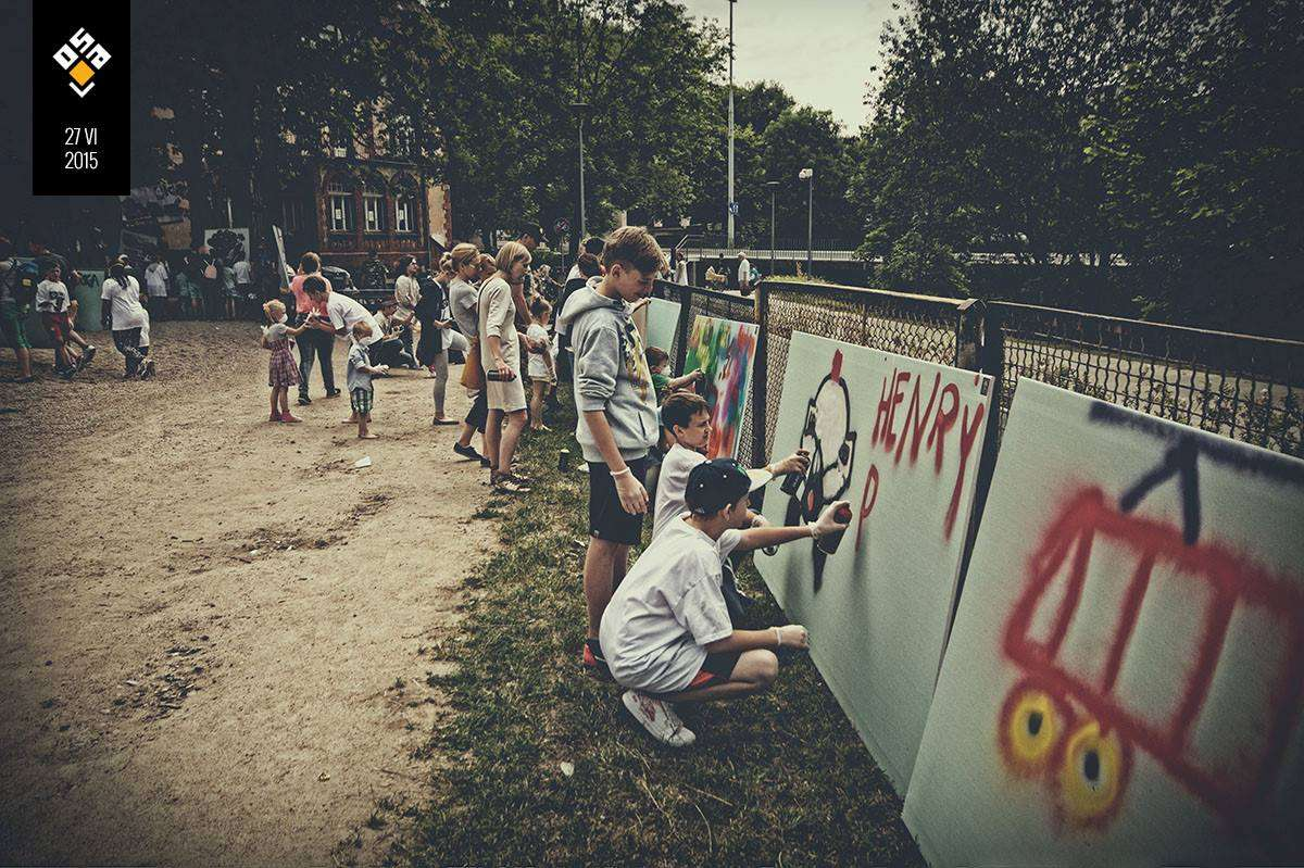 W olsztyńskim Parku Centralnym podsumują Street Art Garden - full image