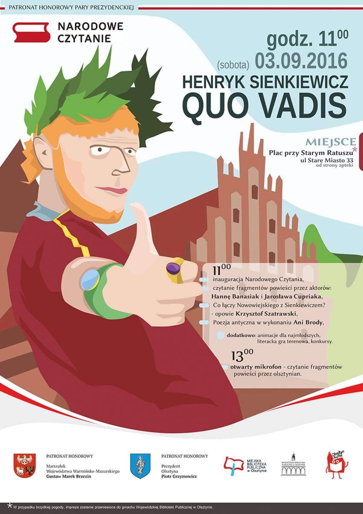 "Narodowe Czytanie ""Quo vadis"" - full image"