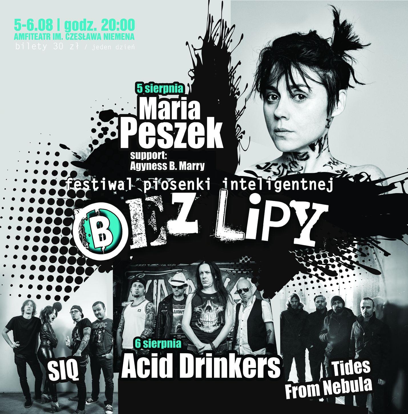 Bez Lipy w amfiteatrze. Na scenie m.in. Maria Peszek i Acid Drinkers