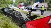 Tragiczny wypadek pod Barczewem. Na miejscu zginął kierowca taksówki