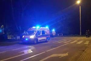 Motocyklista potrącił pieszego na ul. Skłodowskiej w Mrągowie