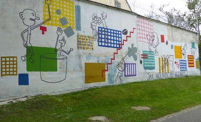 Więzienny mural, który przyciąga wzrok