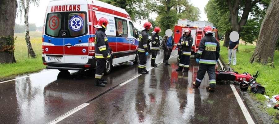 Do wypadku doszło 14 lipca o godz.13:20 na trasie Młoteczno - Gronowo