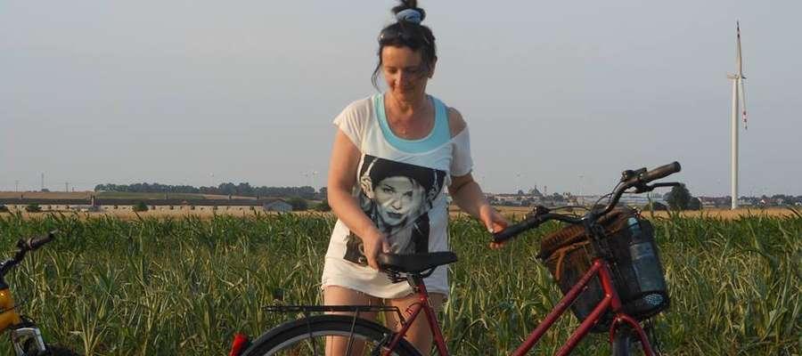Pani Małgorzata przysłała nam zdjęcie ze skradzionym rowerem