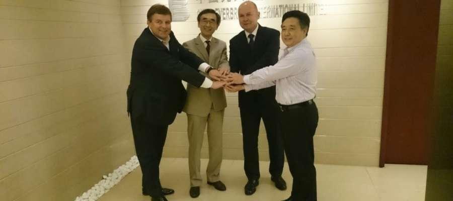 Janusz Arent i Sławomir Kowalewski podczas wizyty w Chinach