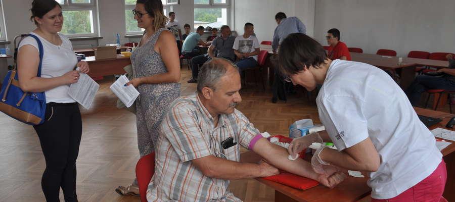 Podczas sobotniego poboru krwi w nowomiejskiej straży