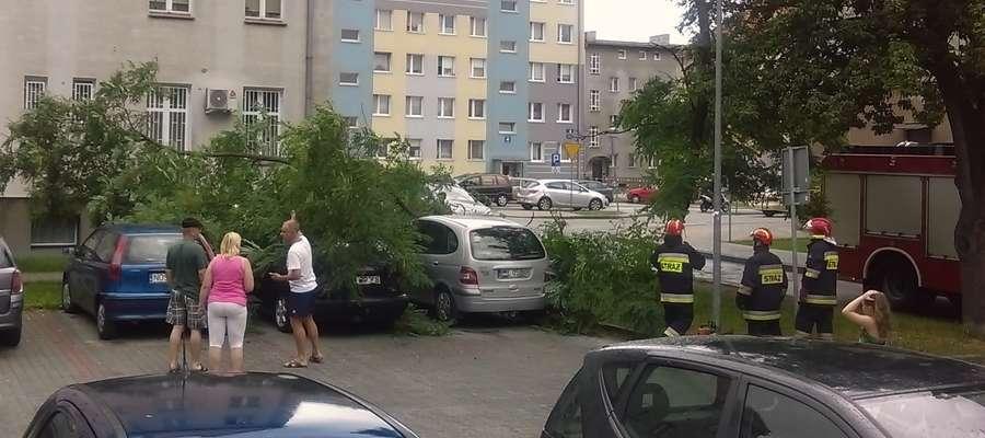 Piątek, 29 lipca – Iława, ul. Grunwaldzka – pęknięta odnoga drzewa spadła na trzy zaparkowane samochody. Na szczęście nikomu nic się nie stało i jedynie jedno z aut uległo niewielkim uszkodzeniom