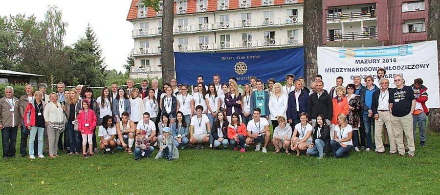 Uczestnicy rejsu zorganizowanego przez Rotary Club Giżycko